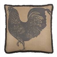 Thomas Paul Thomaspaul Jute Prized Poultry Rooster 26 Pillow