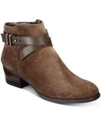 Inc International Concepts Women's Herbii Buckle Booties Only At Macy's Women's Shoes Mushroom