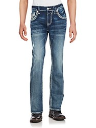 Rock Revival Blended Cotton Distressed Denim Pants Kaelen