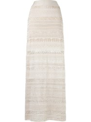 Cecilia Prado Long Knit Skirt Nude Neutrals