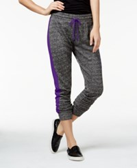 Material Girl Active Juniors' Colorblocked French Terry Sweatpants Only At Macy's Purple Party