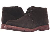 Rockport Total Motion Fusion Desert Boot Dark Bitter Chocolate Men's Dress Lace Up Boots Gray