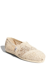 Toms 'Classic' Crochet Slip On Women Natural