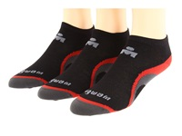 Wigwam Ironman Velocity Pro 3 Pack Black Red Low Cut Socks Shoes