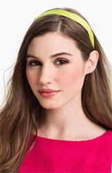L. Erickson Satin Ribbon Headband Green Green Pink