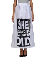 Odi Et Amo Long Skirts Black