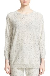 St. John Women's Collection Contrast Back Cashmere And Wool Sweater
