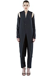 Rick Owens Long Sling Strap Coat Black