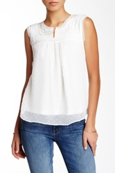 Love Stitch Sequin And Rope Trim Blouse White