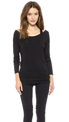Solow Off The Shoulder Top Black Black