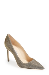 Manolo Blahnik 'Bb' Pointy Toe Pump Women Gold Multi