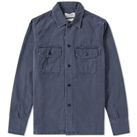 Remi Relief Military Shirt Jacket Blue