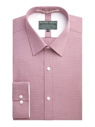 Racing Green Jebb Semi Plain Formal Shirt Red