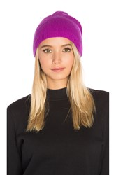 Autumn Cashmere Asymmetric Beanie Purple