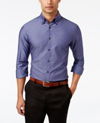 Inc International Concepts Men's Double Collar Chambray Shirt Only At Macy's Sonic Plum