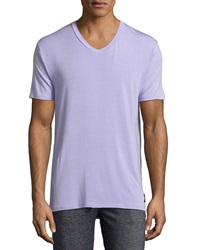 Psycho Bunny Luxe V Neck Tagless Jersey Tee Lavender