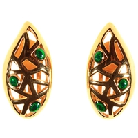 Alice Joseph Vintage 1960S Christian Dior Earrings Gold Green