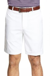 Men's Big And Tall Peter Millar 'Salem' Flat Front Performance Shorts White