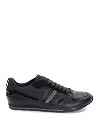 Diesel Long Term Gunner Leather Sneakers Licorice