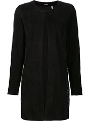 Elie Tahari Lace Panel Coat Black