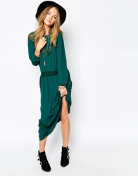 Gat Rimon Jalie Maxi Dress In Forest Green