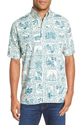 Reyn Spooner Men's '60Th Anniversary' Classic Fit Print Short Sleeve Sport Shirt