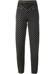 M Missoni Tapered Cropped Trousers Black