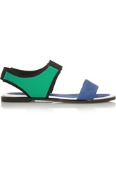 Kenzo Color Block Leather And Neoprene Sandals