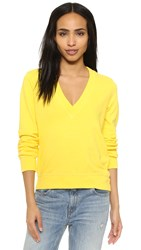 Clu Too V Neck Pullover Yellow