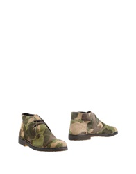 Simone Mariotti Ankle Boots Military Green