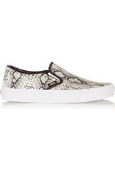Vans Snake Effect Leather Slip On Sneakers