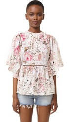Zimmermann Eden Embroidered Top Floral Embroidery