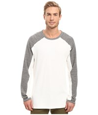 Agave Lookout Long Sleeve Slub Color Block Natural Men's Long Sleeve Pullover Beige