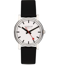 Mondaine A6583030011sbb Evo Leather Watch White