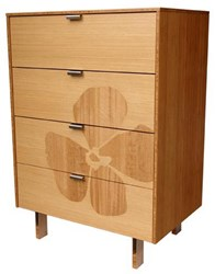 Iannone Design Flower Inlay Tall Dresser