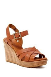 Timberland Danforth Woven Wedge Sandal Wide Width Available Brown