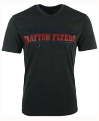 Colosseum Men's Dayton Flyers Verbiage Stack T Shirt Charcoal