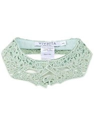 Vivetta Hand Shaped Lace Collar Green