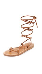 K. Jacques Bikini Wrap Sandals Pul Natural