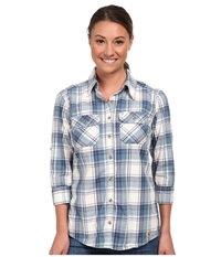Carhartt Huron Shirt Dark Blue Women's Short Sleeve Button Up