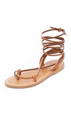 K. Jacques Lucile Wrap Sandals Pul Natural