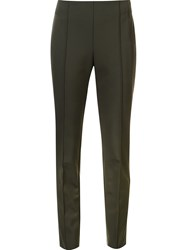 Lafayette 148 New York Skinny Cropped Trousers Green