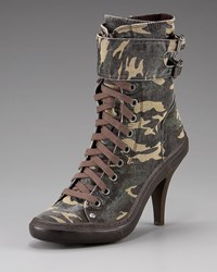 Ash Camo Lace Up Sneaker Boot Military