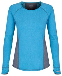 Cuddl Duds Long Sleeve Crew Neck Top Blue