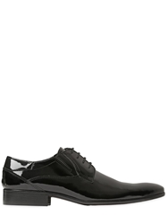 Veni Shoes Patent Leather Derby Lace Up Shoes Black
