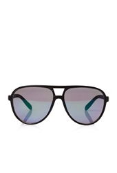 Forever 21 Mirrored Matte D Frame Sunglasses Black