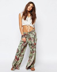Denim And Supply Ralph Lauren Denim And Supply By Ralph Lauren Paisley Wide Leg Trouser Multi