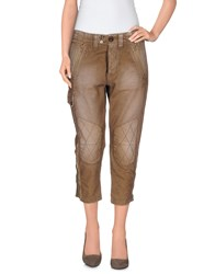 We Are Replay Trousers 3 4 Length Trousers Women Khaki