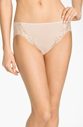 Wacoal 'Bodysuede' Lace Trim High Cut Briefs 3 For 45 Natural Nude