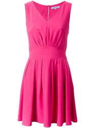 Guild Prime V Neck Flared Dress Pink And Purple